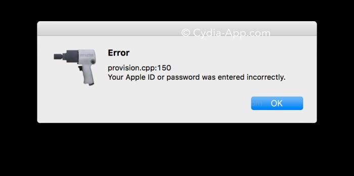 cydia impactor provision.cpp_install error
