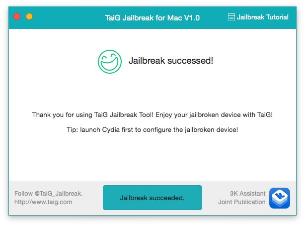 taig jailbreak succeeded