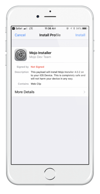 Mojo Installer Download ( iPhone iPad )