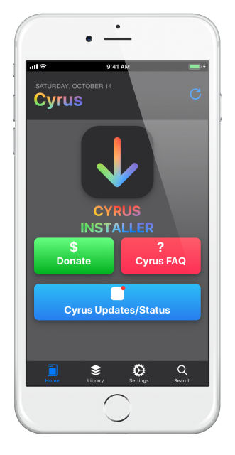 cyrus installer home-screen