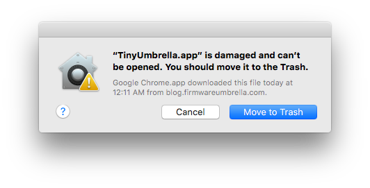 TinyUmbrella.app-is-damaged