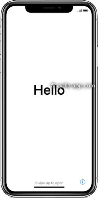 ios iphone-x-hello-screen