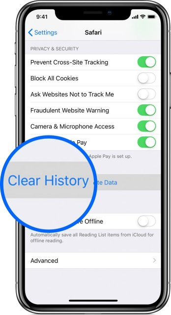 iphone-x-safari-clear-history
