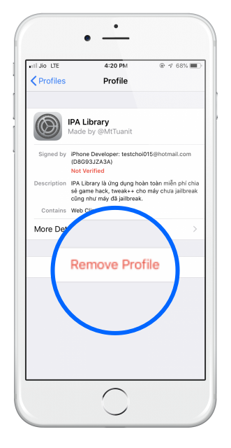 remove_ipalibrary