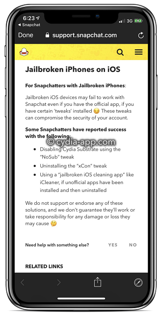 snapchat plus jailbreak error