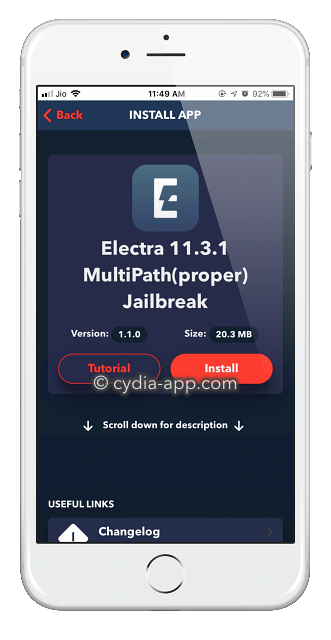Electra Jailbreak ( No PC Required )