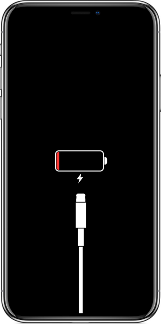 iphone x low battery screen