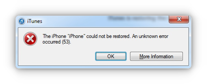 itunes error 53 fix