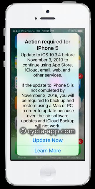 iphone 5 ios 10.3.4 update