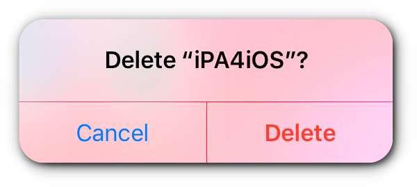 delete ipa4ios