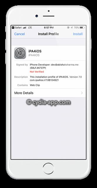 ipa4ios configuration profile