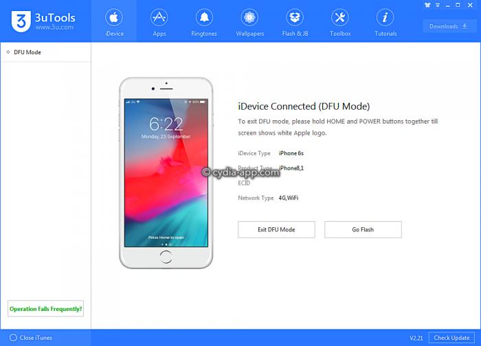 iphone dfu mode recovery