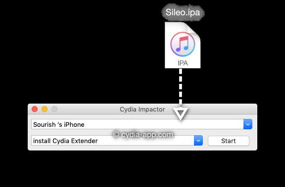 sileo ipa install cydia impactor