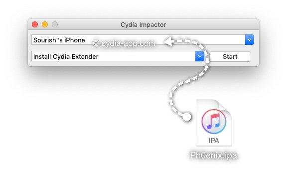 cydia impactor phoenix ipa file