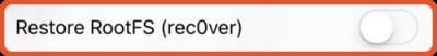 uncover jailbreak unc0ver restore rootfs