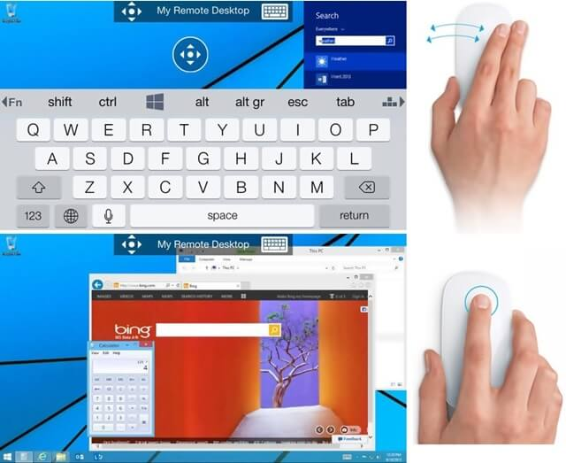 how to use pc remote windows 8