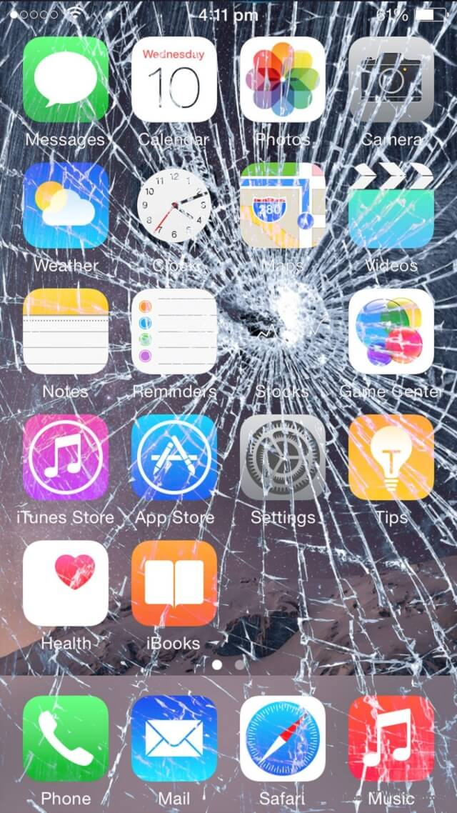 Image gallery ios cracked screensaver for Wallpaper home screen iphone