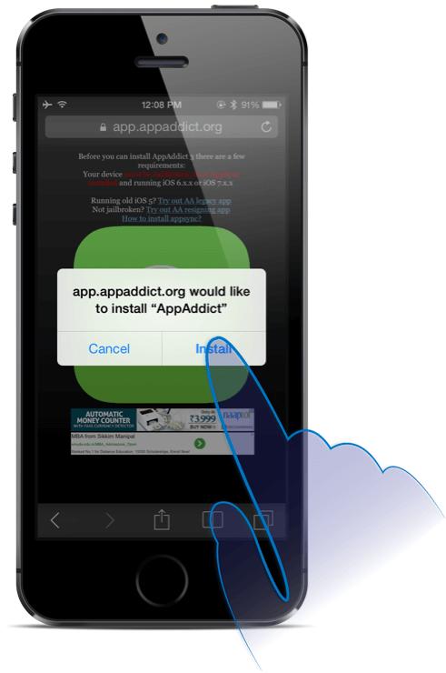 appaddict installer ios 9 sur ipod