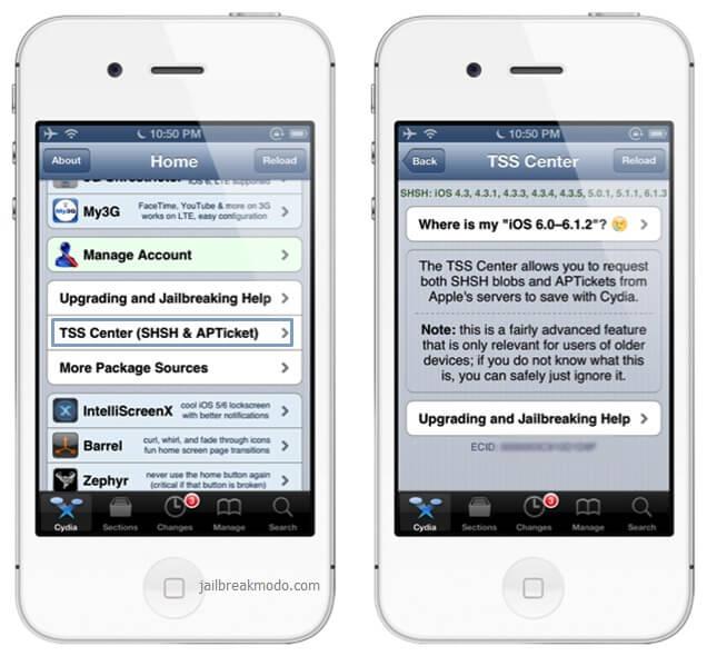 cydia shsh blobs 6.1.2 iOS iPhone 5