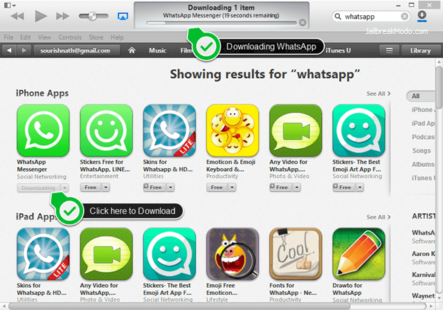 Can iphone download whatsapp plus