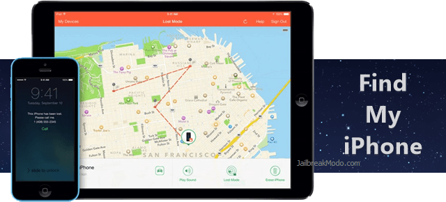 where to find find my iphone on ios 8