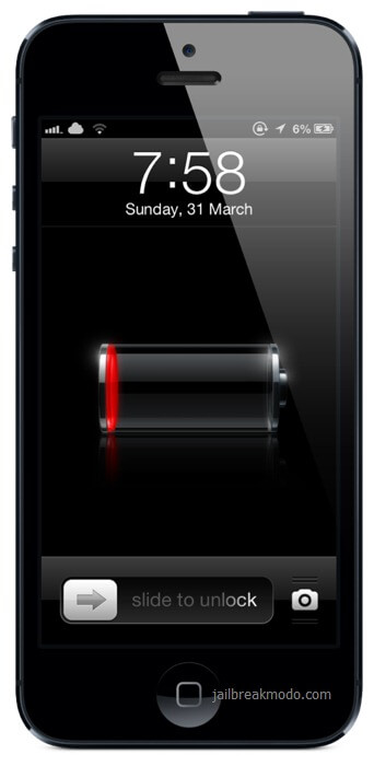 iPhone 5 battery low charge