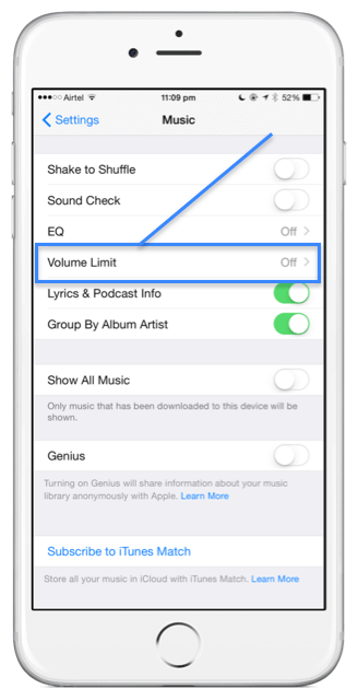 how to turn up volume on voicemail on iphone 6