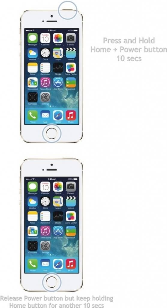 iphone 5s DFU mode