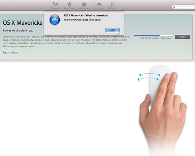 mavericks download problem