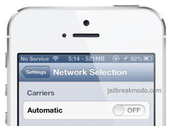 Các bước khắc phục iphone 5s bị mất sóng chi tiết