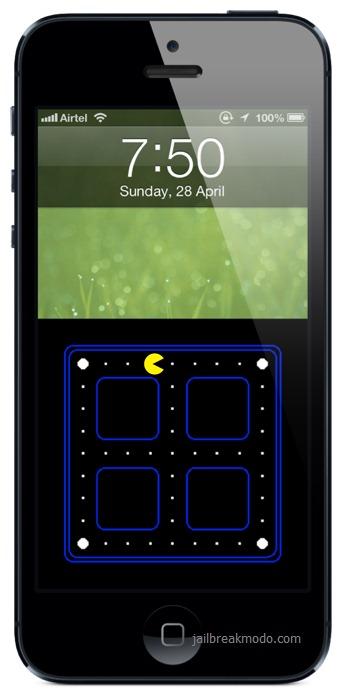 get pacman lockscreen for iphone 5. Black Bedroom Furniture Sets. Home Design Ideas
