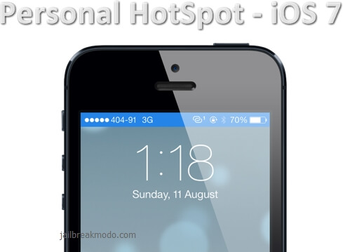 personal hotspot ios 7 iphone 5