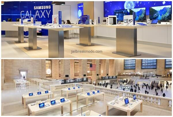 samsung store vs apple store
