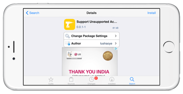 support unsupported cable on iphone