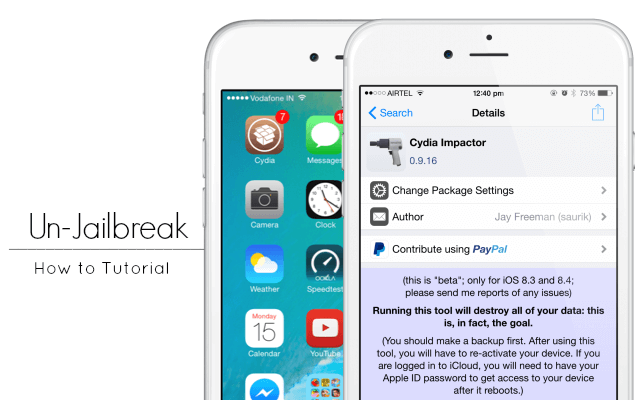 how to unjailbreak iphone without computer how to un jailbreak your iphone without upgrading ios 2065