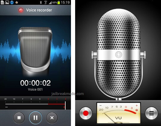 voice recorder samsung galaxy vs iphone