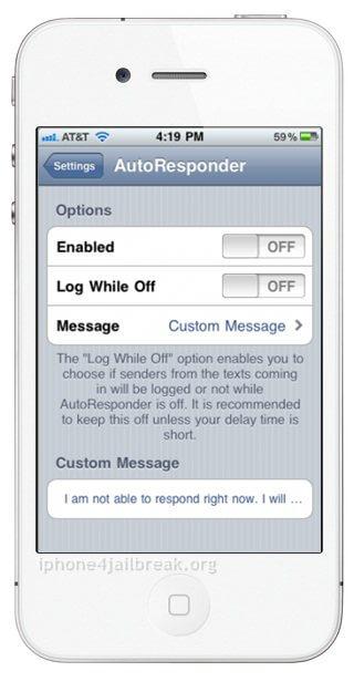 Auto Responder-iphone 4-