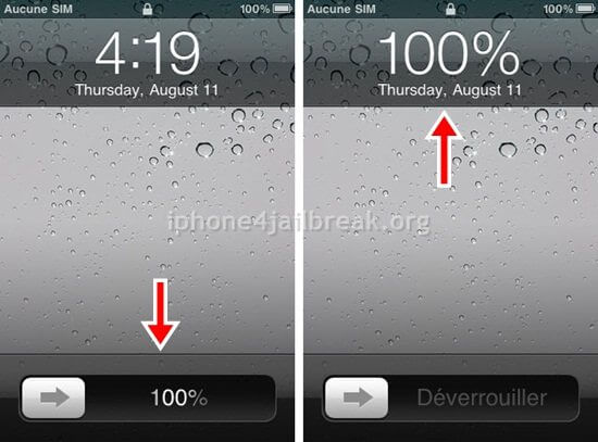 Battery percentage on iPhone 4