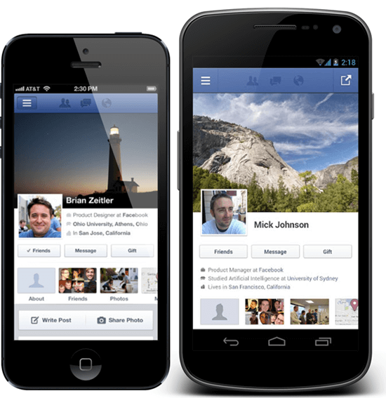 Facebook-iOS-Android