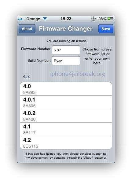Firmware-Changer-jailbreak app