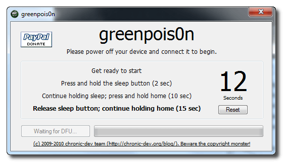 Greenpois0n-iphone 4-Jailbreak