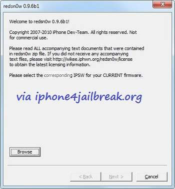 Redsn0w-0.9.6b1 iphone 3g