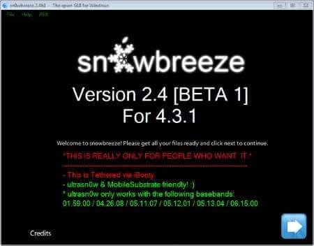 Sn0wbreeze 2.4 Jailbreak 4.3.1