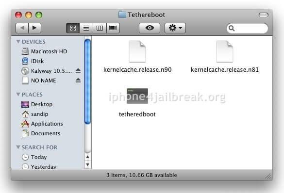 Tetherboot - kernelcache.release.n90 - iBSS.n90ap.RELEASE.dfu