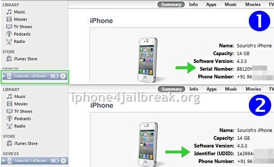 UDID iphone 4