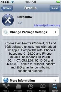 Ultrasn0w unlock 1.2