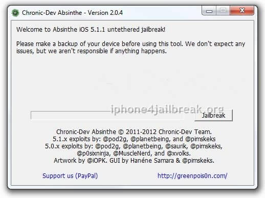 absinthe 2.0.4 jailbreak iPhone 4S download