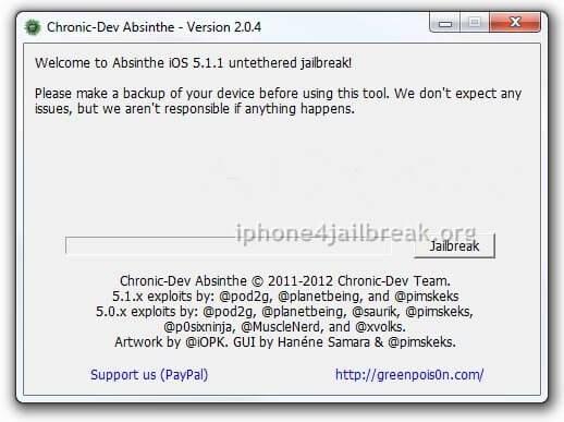absinthe 2.0.4 jailbreak iPhone 4S download