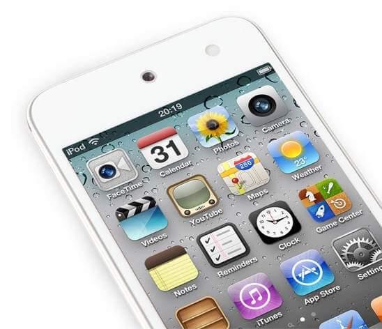 ambient light sensor ipod touch 4