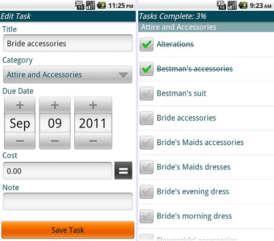 android wedding apps